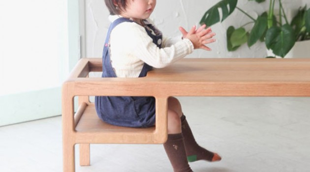 Baby in Table – A Table with Built-in Baby Seat by Toa Ringyo