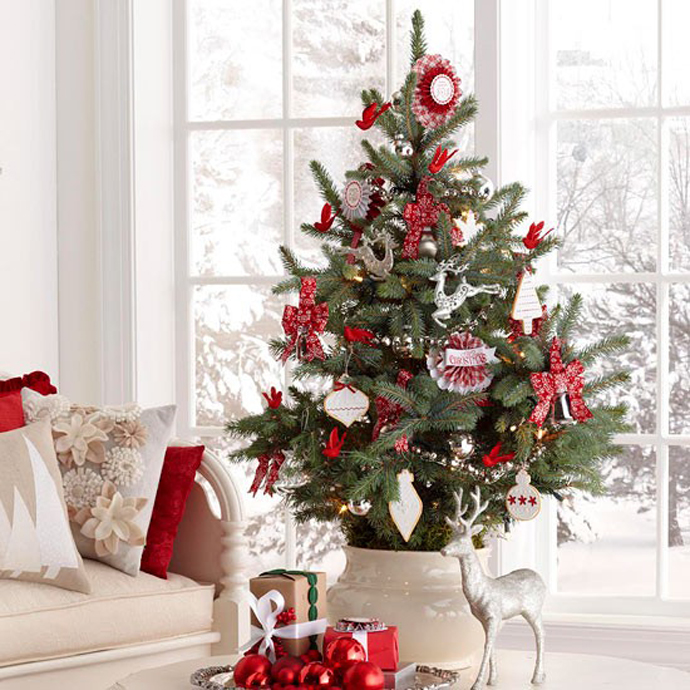 beautiful christmas tree decorating ideas. Black Bedroom Furniture Sets. Home Design Ideas
