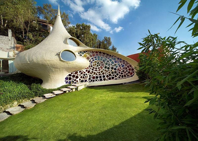 Nautilus shell house, wonderful project by Arquitectura Orgánica