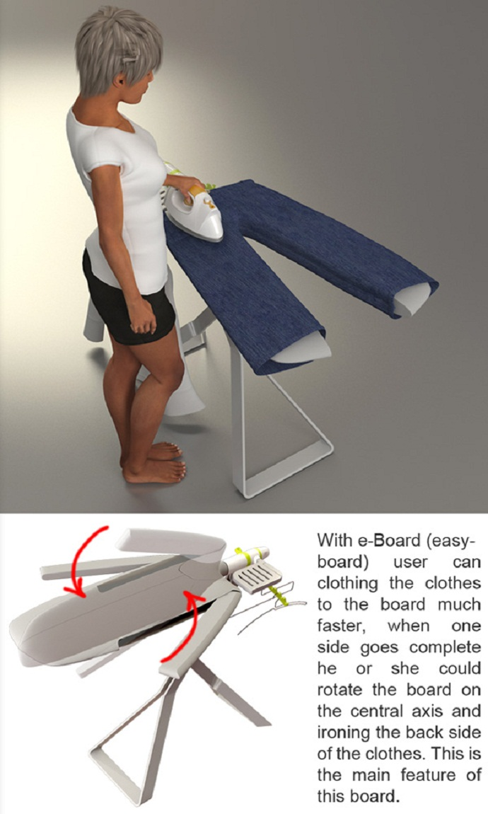 E Board – A Very Useful Ironing Board
