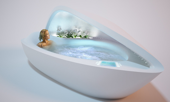 Luxurious Bathtub – Mother of Pearl  A Great Escape from Stressful Life