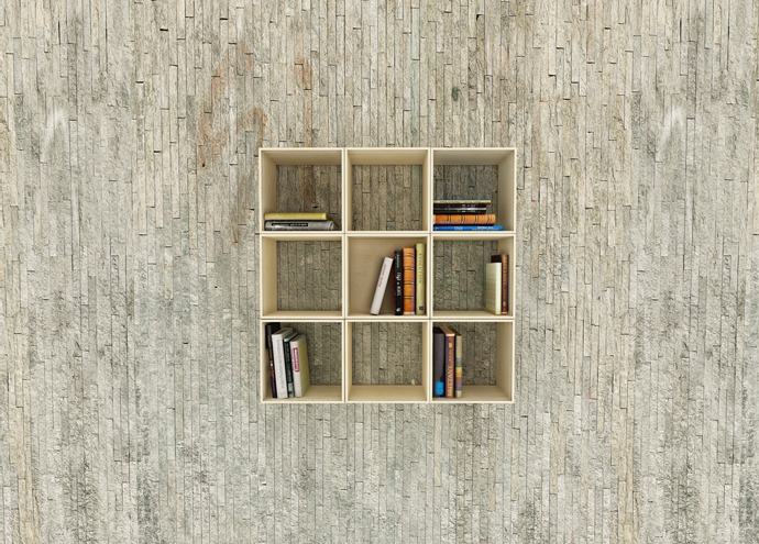 New Shapes Every Time- Squaring Movable Bookshelf by Sehoon Lee