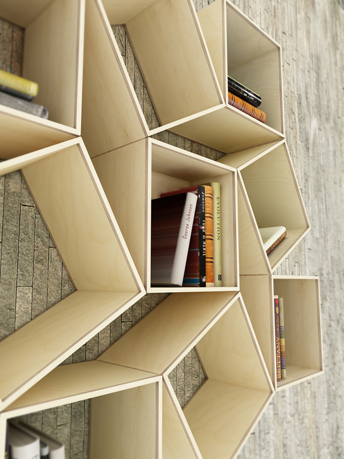 New Shapes Every Time  Squaring Movable Bookshelf by Sehoon Lee