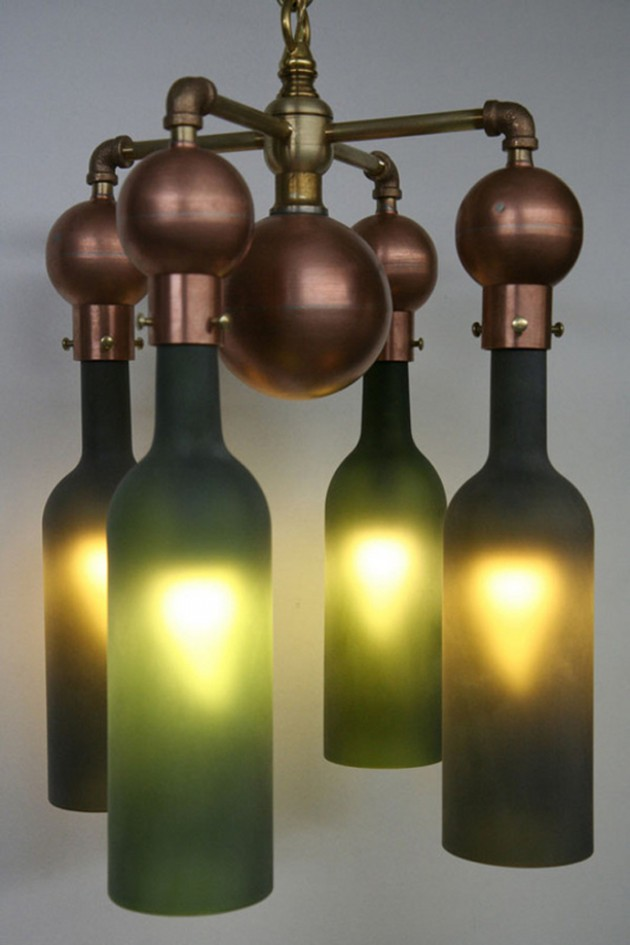 Chandelier Made From Wine Bottles: DIY Wine Bottle Chandeliers,Lighting