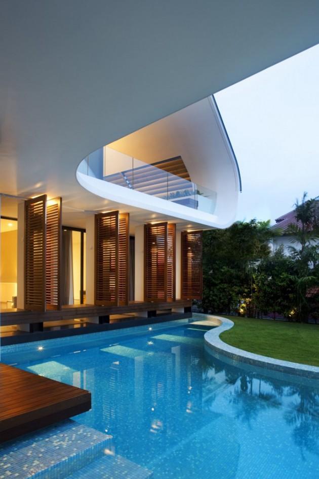 Архитектор спроектировал дом вдохновленный танцем танго