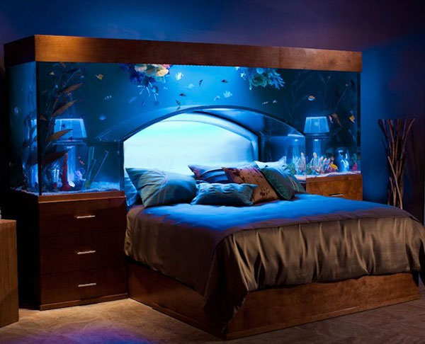 35 cool headboard ideas to improve your bedroom design Bedroom swimming pool design