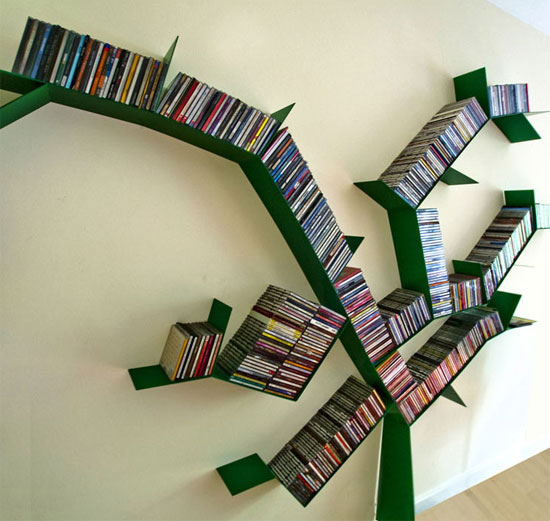 Cool And Unique Bookshelves Designs For Inspiration