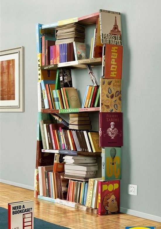 Bookcase out of Books
