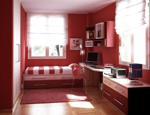 The Most Brilliant and Comfortable Teens Room Ideas for ... on Teenager Small Space Small Bedroom Design  id=18209
