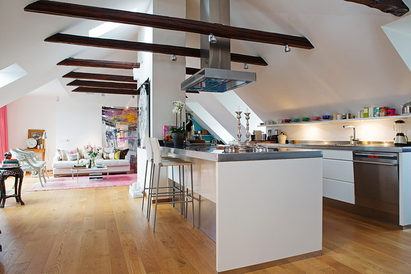 Colorful and Lighted Stockholm Attic Apartment