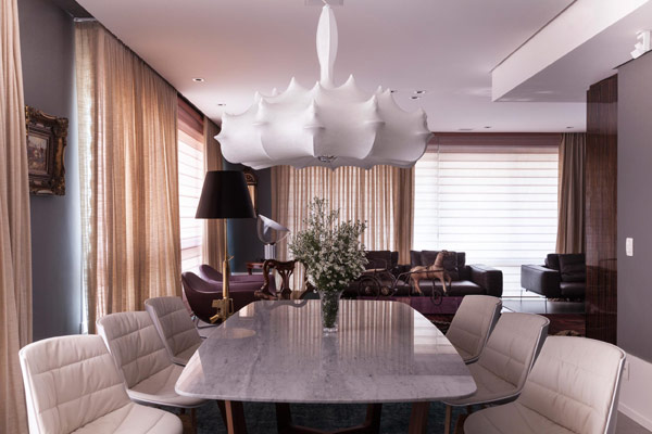 Luxury and Irreverence Defining Eclectic Apartment in Brazil