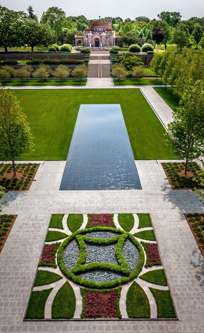 Lakewood cemetery s garden mausoleum by hga architects for Formal garden design