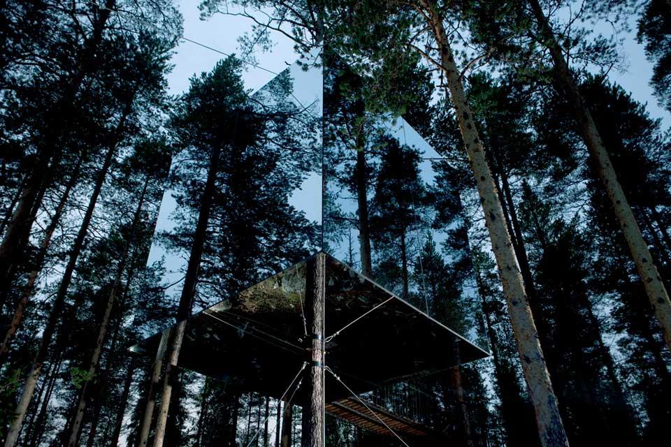 Tree Hotel Mirrorcube/ Tham & Videgård Arkitekter