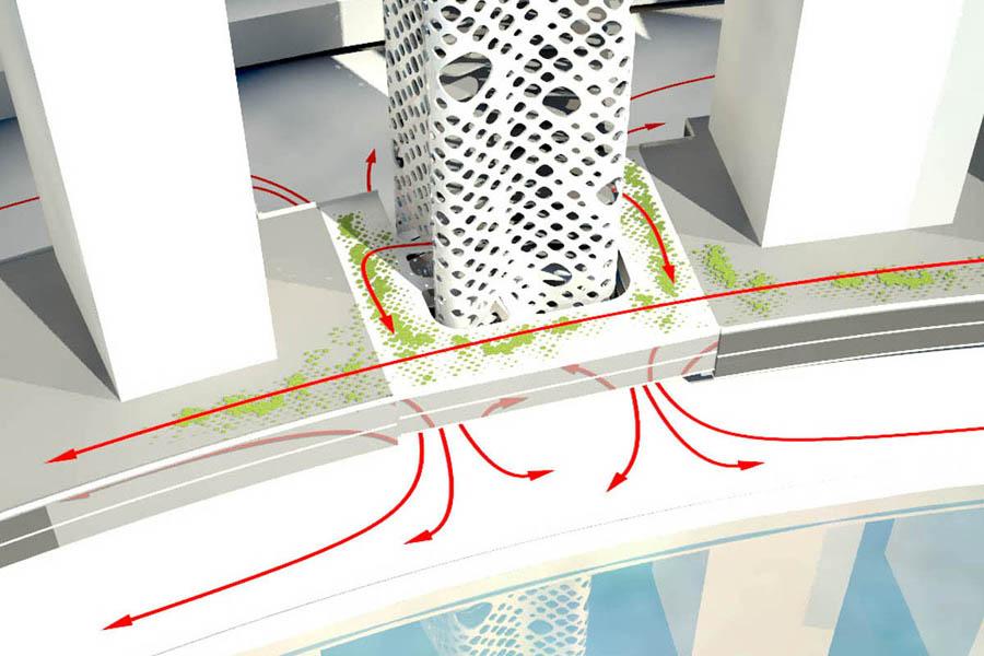 O-14 Tower by Reiser + Umemoto in Dubai, United Arab Emirates