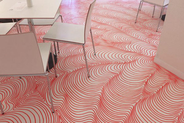 Incredible Permanent Marker Floor Installation in a Cafe in Prague