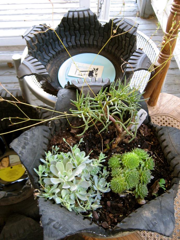 Tire Garden Planters