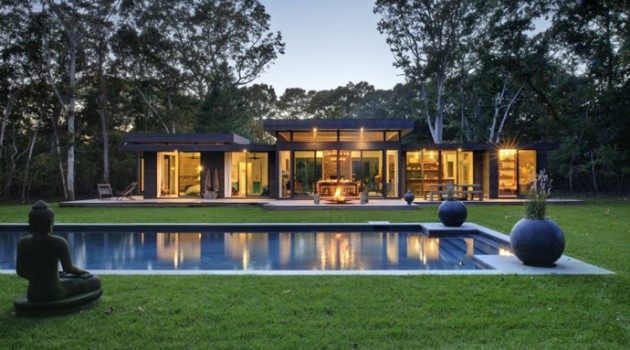 Robins Way House- A Weekend Retreat for an Interior Designer and a DJ by Bates Masi Architects