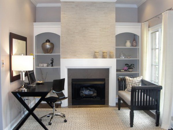20 home office designs for small spaces for Home office space design ideas