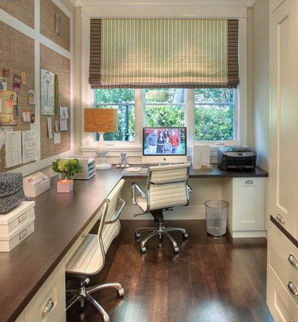 20 home office designs for small spaces for Small home office layout ideas