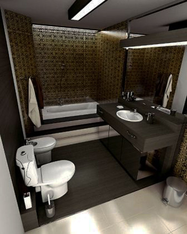 30 small and functional bathroom design ideas for cozy homes for Small bathroom decorating ideas photos