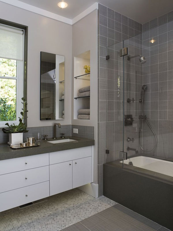 30 small and functional bathroom design ideas for cozy homes for Design ideas for a small bathroom
