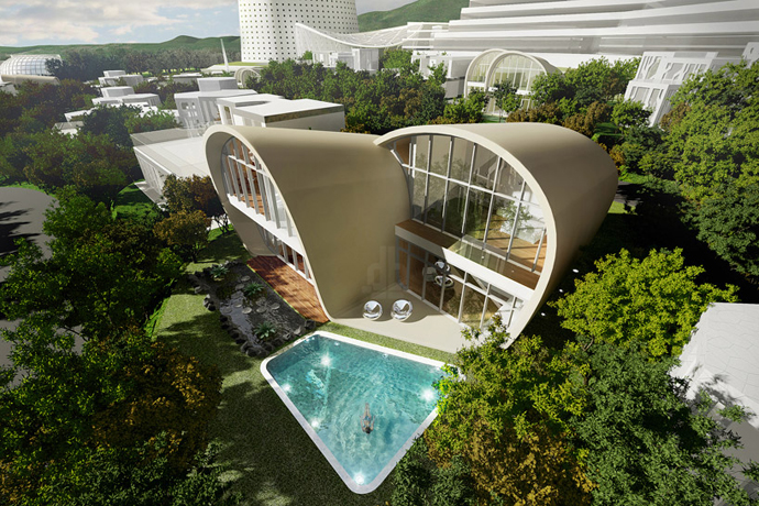 High end Residence by Planning Korea