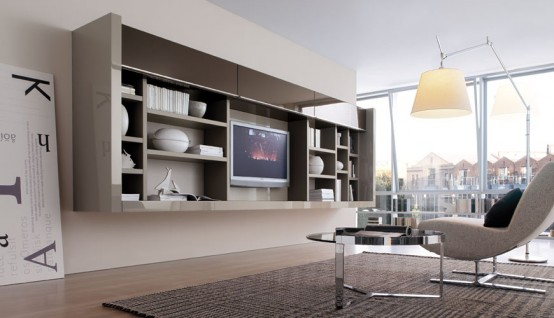 To Use Living Room Walls To Create Modern Shelves