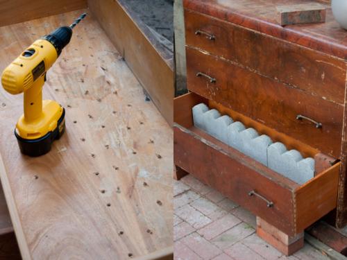 DIY: Make a small home garden from an old dresser