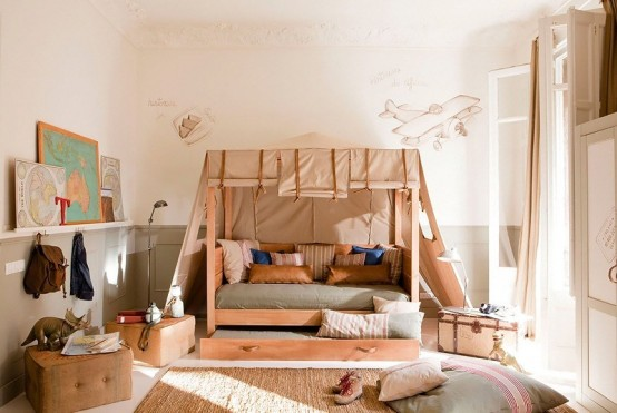 Wonderful Calm Shades Design For Kid's Room