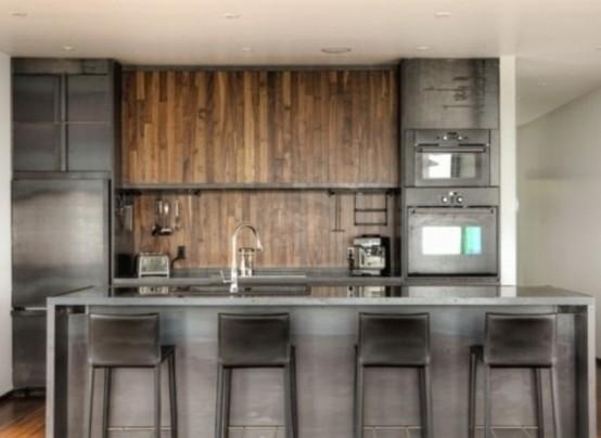 marvellous modern industrial kitchen ideas | 46 Marvelous Designs of Masculine Kitchen