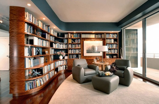 The Ideal Library to Decorate the House