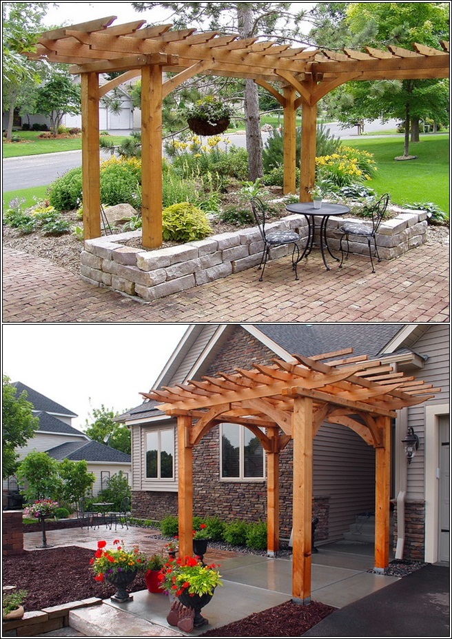 Magnify The Adorableness of Your Outdoor Area With A Pergola Above.