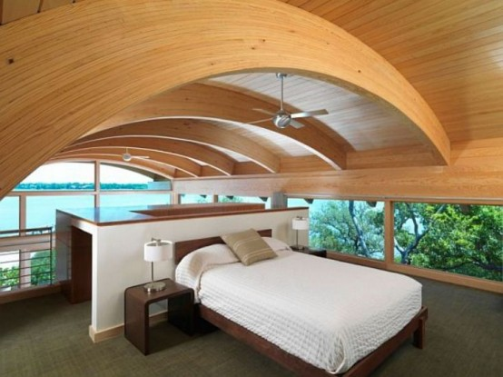 Incredible Hammock Shaped Design Of a Guest House
