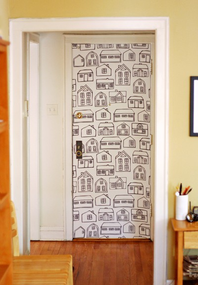10 Ideas Of Doors Decoration With Wallpapers