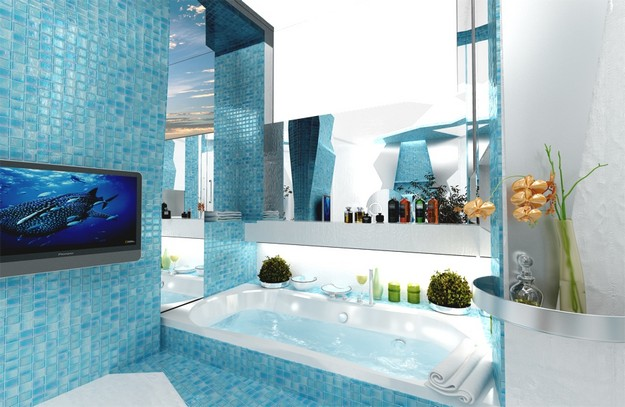 Amazing colorful bathroom design by Gemelli Design