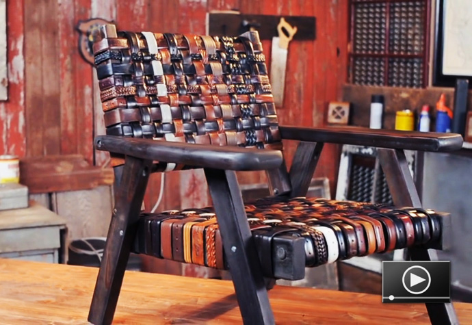 Old Belts? Create Some Interesting Pieces of Furniture!
