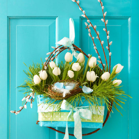 Diy easter and spring door decorations