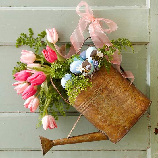 13 Diy Easter And Spring Door Decorations,Low Maintenance Backyard Landscaping Small Garden Ideas No Grass