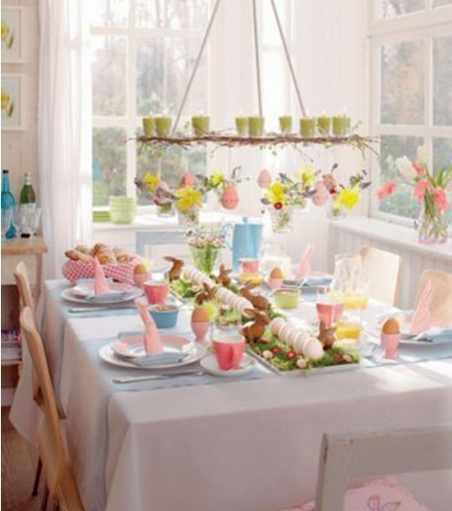 28 Easy DIY Tablescapes for Easter