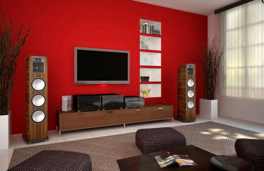 40 contemporary living room interior designs - Wall design for living room philippines ...