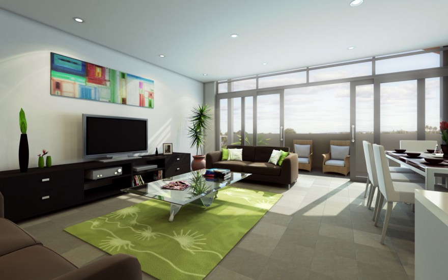 40 contemporary living room interior designs for Decorating long walls in living rooms