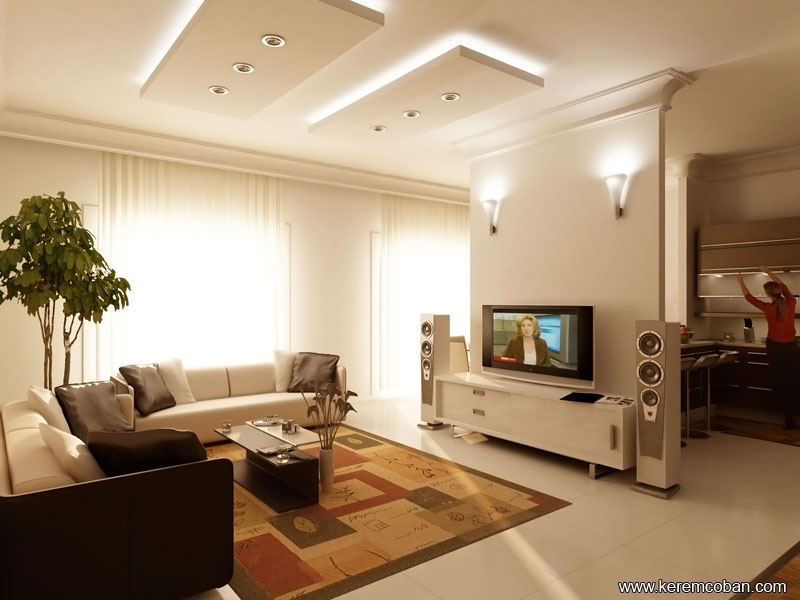 Living Room Ceiling Design Ideas 40 Contemporary Living Room Interior Designs