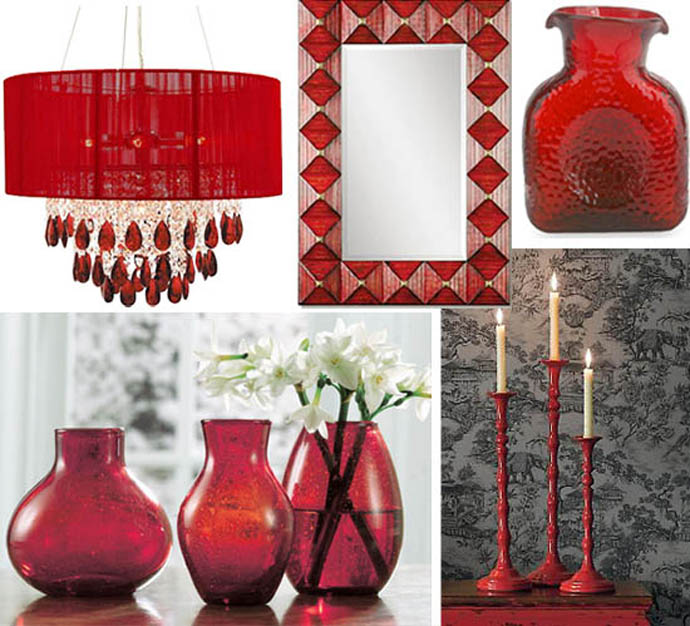 30 sexy red interiors inspirations that make your room for Room decor accessories