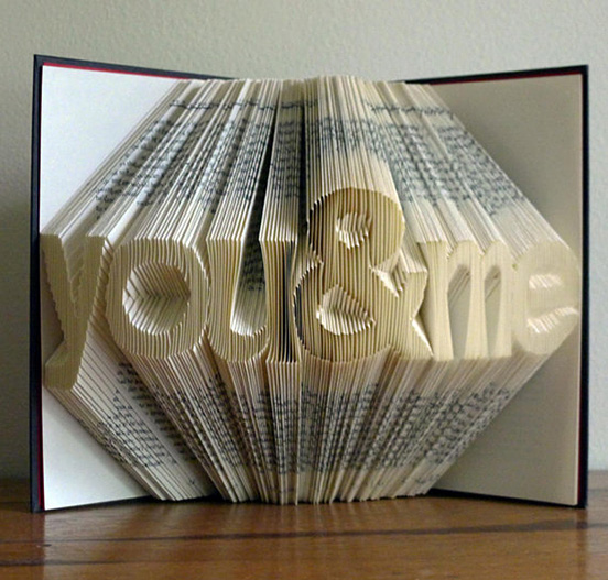 Home Design Ideas Book: Amazingly Creative Sculptures On Folded Book Paper Art