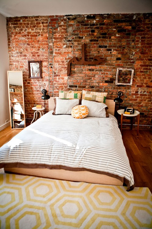 Elegant Modern And Classy Interiors With Brick Walls Exposed