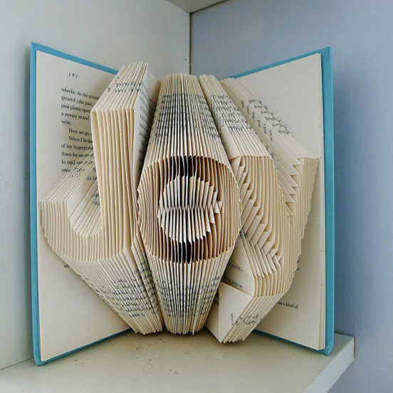Amazingly Creative Sculptures On Folded Book Paper Art