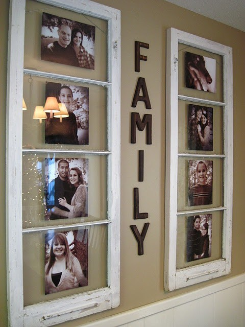 Window Frame Wall Art creative ways to reuse old windows