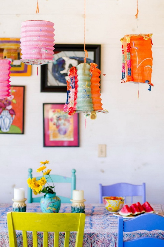 Wonderful Dining Room Decorations Inspired By Colors Of Spring