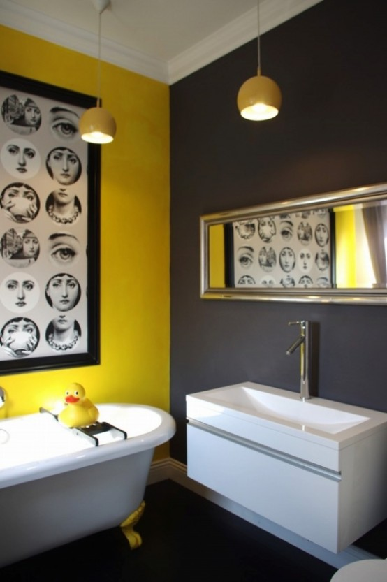 36 Bright And Sunny Yellow Ideas For Perfect Bathroom ... on Contemporary:kkgewzoz5M4= Small Bathroom Ideas  id=47163