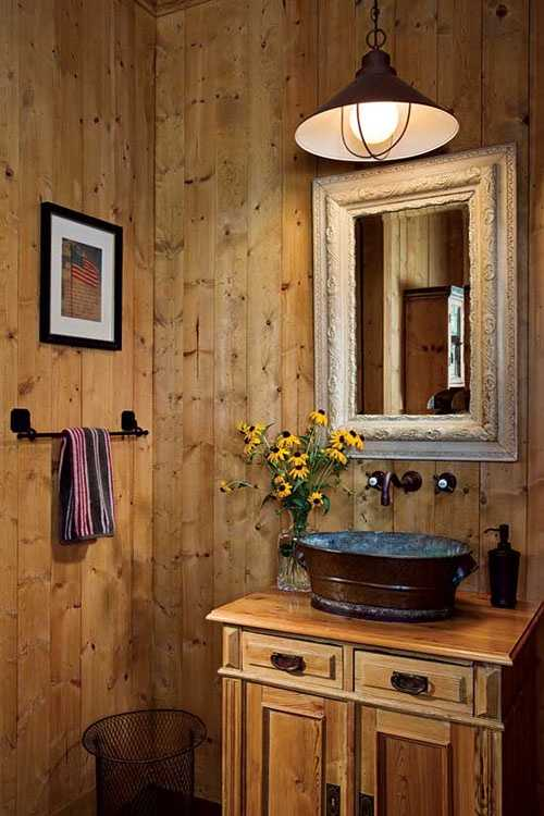 46 bathroom interior designs made in rustic barns for Small rustic bathroom designs